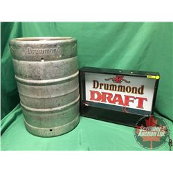Collector Combo - Drummond Beer : Keg & Light Up Sign