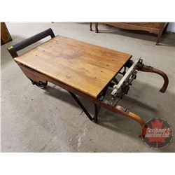 Renfrew Scale 2000lb Capacity Pat. 17th Oct 1911 Rolling Dock Scale : Coffee Table Conversion