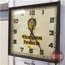 "Thompson Products Elec. Wall Clock (Working) (14"" x 14"" x 2-1/2"")"