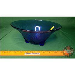 "Hazel Atlas Royal Lace Straight Side Bowl (Cobalt Blue) Depression Glass (4-1/2""H x 10""Dia)"