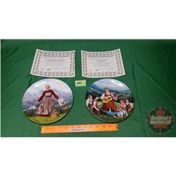 "Collector Plates (2): Knowles ""Sound of Music Series"" w/COA's (See Pics for Plate Details / Descript"