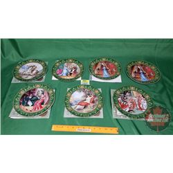 """Collector Plates (7): D'arceau Limoges """"Josephine et Napoleon de Boulme"""" w/COA's (See Pics for Plate"""