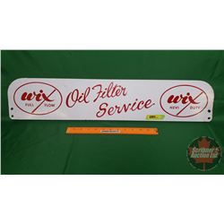 """WIX Full Flow Air Filter Service"" Single Sided Tin Sign (6"" x 29"") (would have been from display Ra"