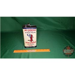 """Hi-Speed Cream Separator Oil Tin (Partial Full) (8"""" x 4"""" x 2-1/2"""")"""