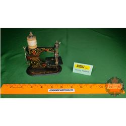 """Small Toy Hand Crank Sewing Machine """"Made in Germany"""" (5""""H x 4""""W x 2""""D)"""