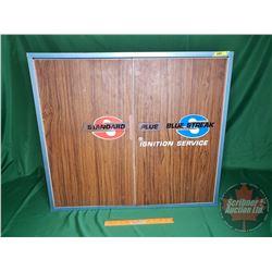 """""""Standard Plus Blue Streak Ignition Service"""" Shop Cabinet (29""""H x 32-1/2""""W x 11""""D)"""