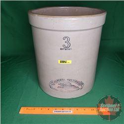 "Alberta Potteries 3 Gallon Crock ""Beaver"" (12""H x 11""Dia)"