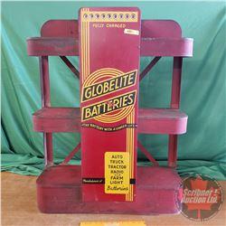 """""""Globelite Batteries"""" Store Display Battery Charging Rack (39""""H x 30""""W x 10""""D) (Rare)"""