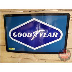 """Single Sided Enamel Sign """"Good Year"""" (15""""H x 24""""W)"""