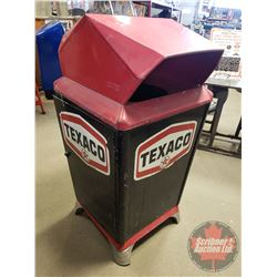 """""""Texaco"""" Service Station Covered Trash Can (50""""H x 24""""W x 24""""D)"""