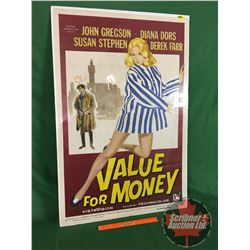 """""""Value for Money"""" Movie Poster : The Rank Film Distributors of America 1957 (41"""" x 27"""")"""