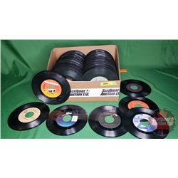 Tray Lot: Records 45's - Assorted Artists (234) (See Pics)