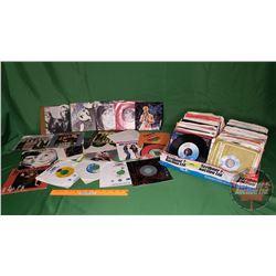 Tray Lot: Records 45's (Assorted Artists / Genres) (230) Incl: Van Halen, Hewie Lewis, Guns n' Roses