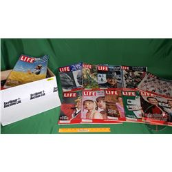 Box Lot: Life Magazines 1958 & 1959 (51) (See Pics)