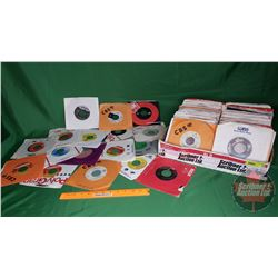 Tray Lot: Records 45's (Assorted Artists / Genres) (205) Incl: Rod Stewart, Billy Joel, Kenny G, Lov