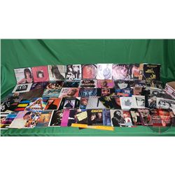Tray Lot: Records 45's Mostly 80's Rock / Pop (Assorted Artists / Genres) (59) Incl: Def Leppard, Ki