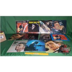 Box Lot: Johnny Cash Albums (11) (See Pics)