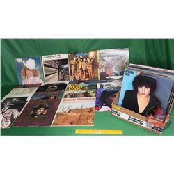 Box Lot: Albums (33's) Assorted Country Artists (44) (See Pics) Incl: Dottie West, Don Williams, Kri