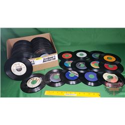 Tray Lot: Records 45's - Assorted Artists (230) (See Pics)
