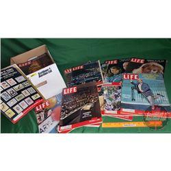 Box Lot : Life Magazines 1959, 1960 (52) (See Pics)
