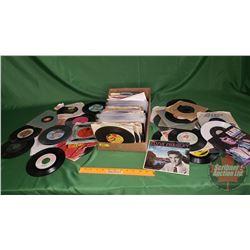 Tray Lot: Records 45's (Assorted Artists / Genres) (160) Incl: Elton John, Eagles, Walt Disney, etc