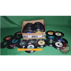 Tray Lot: Records 45's - Assorted Artists (231) (See Pics)