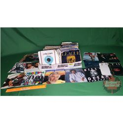 Tray Lot: Records 45's (Assorted Artists / Genres) (67) Incl: Bruce Springsteen, Willie Nelson, Lion
