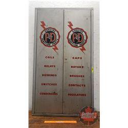 """""""Genuine P&D Ignition Parts"""" Shop Cabinet (47""""H x 26-1/2""""W x 9""""D)"""
