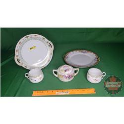 Nippon China Incl: Plates (2); Mugs (2); Sugar Dish (See Pics)