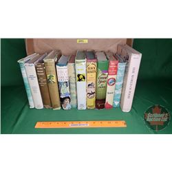 Tray Lot: Vintage Hardcover Novels w/Sleeves (12) (See Pics for Titles & Authors)