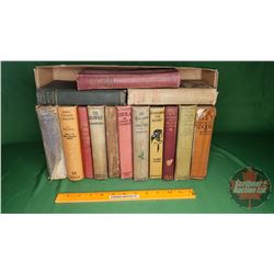 Tray Lot: Vintage Hardcover Novels (14) (See Pics for Titles & Authors)
