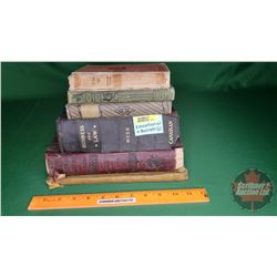 Antiquarian Books: Business & Law, Encyclopedia, Elementary School Book, etc (See Pics)