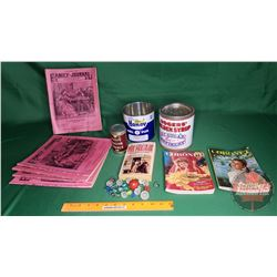 Collectors Combo: Confectionary Tins, Marbles, Books, Family Journals (1936, 1937(3), 1958) (See Pic
