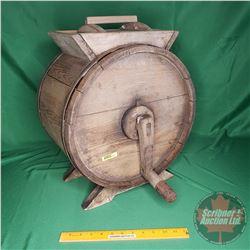 "Wooden Counter Top Barrel Style Butter Churn (18""H)"