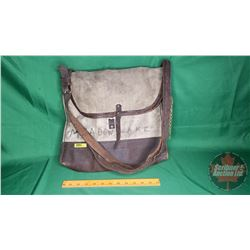 """Canvas/Leather Delivery Pouch """"Canadian Pacific Express"""" (Handwritten: """"Meadowlake, SK"""")"""