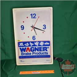 """Light Up Clock """"Wagner Brake Products"""" (19"""" x 12"""")"""