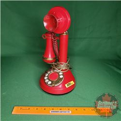 """Deco-Tel"" Candlestick Push Button Phone (Red)"
