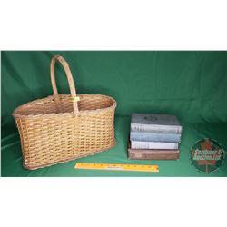 Basket Lot - Hardcover Novels (4) (See Pics)