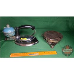 Coleman Iron Model No. 609 and Vintage Hotplate G.E. Electric