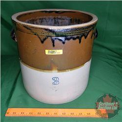 "3 Gallon Crock (2 Tone) (10""H x 10""Dia)"