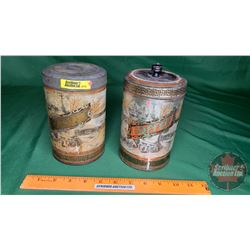 """Wood's Canadian"" Souvenir Coffee Tins (2)"