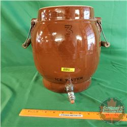 "3 Gallon Ice Water Crock with Handles & Spigot (12""H x 8""Dia) (no Lid)"