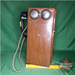 "Northern Electric Company Woodbox Wall Phone (20""H x 9""W x 6""D)"