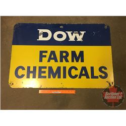"Double Sided Metal Sign ""Dow Farm Chemicals"" (36""W x 24""H)"