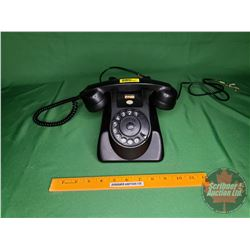 Black Rotary Telephone (Dial Damaged)