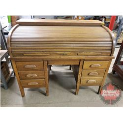 "Roll Top Bankers Desk (44""H x 54""W x 33""D)"