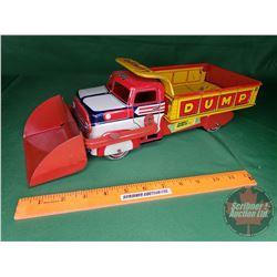 "Marx Tin Toy Dump Truck (Lumar Construction Company) (12""H x 14""L)"