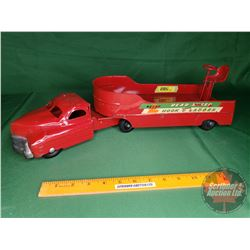 "Buddy L Rear Steer Hook & Ladder Toy Truck (7""H x 20""L)"