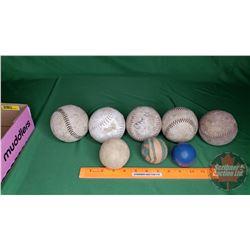 Tray Lot: Assorted Balls (Mainly Baseballs) (see Pic)