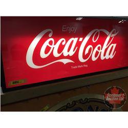 """Enjoy Coca-Cola"" Light Up Sign (12""H x 28""W x 2""D)"